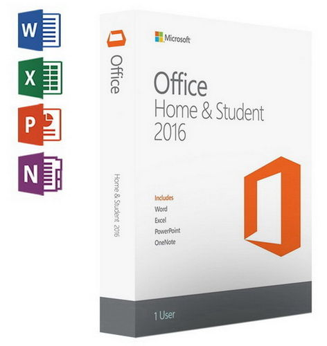 MS Office Home & Student 2016 32/64Bit Keycard